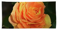 Beach Sheet featuring the photograph Orange Rose by Elvira Ladocki