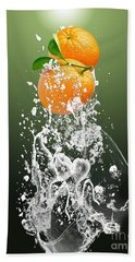Orange Splash Beach Towel