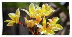 Plumeria Frangipani Hawaiian Flower  Beach Towel