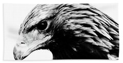 Portrait Of Bird Of Prey  Beach Towel