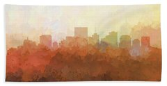 Beach Sheet featuring the digital art Richmond Virginia Skyline by Marlene Watson