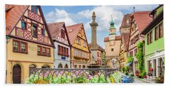 Rothenburg Ob Der Tauber Beach Towel by JR Photography