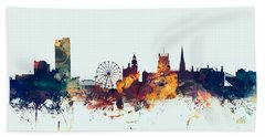 Sheffield England Skyline Beach Towel