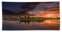 Sunrise At Naples, Florida Beach Towel