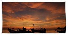 Sunrise On Koh Tao Island In Thailand Beach Sheet by Tamara Sushko