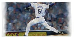 Trevor Hoffman Beach Towel by Don Olea
