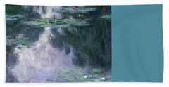 Waterlilies Beach Towel by Claude Monet