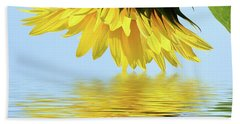 Nice Sunflower Beach Towel by Elvira Ladocki
