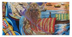 500 Empires Never Die - Odin Beach Towel by Sigrid Tune