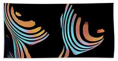 5126s-mak Large Breasts Ribs Abstract View Rendered In Composition Style Beach Sheet