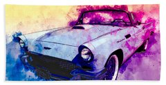 57 Thunderbird Watercolour Beach Towel