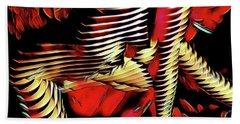 5787s-mak Nude Woman Art Rendered In Red Palette Knife Style Beach Towel