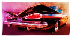 59 Chevy Ticket To Ride Watercolour Beach Towel