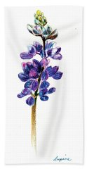 5x7auto Lupine Beach Towel