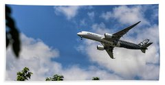 Airbus A350 Beach Towel by Shirley Mitchell