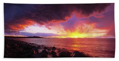 Beach Towel featuring the photograph Antelope Island Sunset by Norman Hall