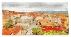 Arzachena Urban Landscape Beach Sheet