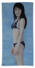 At The Lake Beach Towel