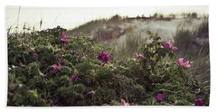 Rose Bush And Dunes Beach Sheet