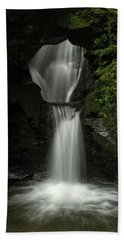 Beautiful Flowing Waterfall With Magical Fairytale Feel In Lush  Beach Towel