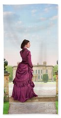 Beautiful Victorian Woman Beach Towel