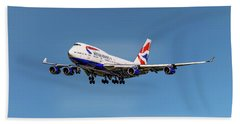 British Airways Boeing 747-400 Beach Towel