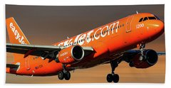 Easyjet 200th Airbus Livery Airbus A320-214 Beach Towel