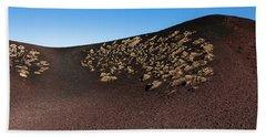 Etna, Red Mount Crater Beach Towel