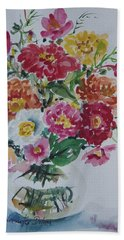 Floral Still Life Beach Sheet