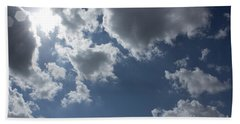 Beach Towel featuring the photograph 6-gon Boken Sky by Megan Dirsa-DuBois