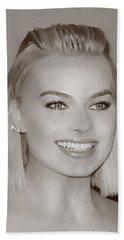 Hollywood Star Margot Robbie Beach Towel by Best Actors