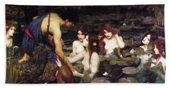 Hylas And The Nymphs Beach Towel