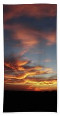 Beach Towel featuring the photograph Kansas Sunset by Rebecca Overton