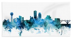 Knoxville Tennessee Skyline Beach Towel