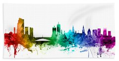 Leeds England Skyline Beach Towel