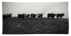 Livestock Beach Towel by Les Cunliffe