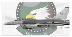 Lockheed Martin F-16c Viper Beach Towel by Arthur Eggers
