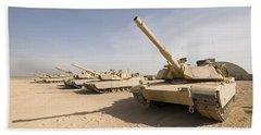 M1 Abrams Tank At Camp Warhorse Beach Towel