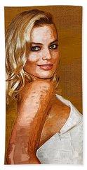 Margot Robbie Art Beach Towel by Best Actors