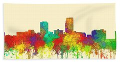 Omaha Nebraska Skyline Beach Towel