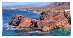 Playa Papagayo - Lanzarote Beach Towel by Joana Kruse