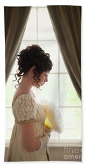 Regency Woman At The Window Beach Towel