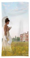Regency Woman Beach Sheet by Lee Avison