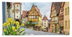 Rothenburg Ob Der Tauber Beach Sheet by JR Photography