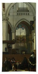 The Interior Of The Oude Kerk, Amsterdam Beach Towel