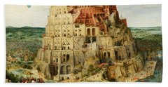 The Tower Of Babel  Beach Towel