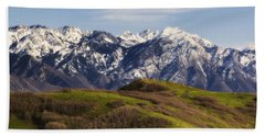 Wasatch Mountains Beach Towel by Utah Images