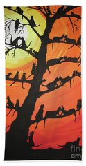 60 Cats In The Love Tree Beach Sheet by Jeffrey Koss