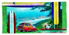 60's Surfing Beach Sheet