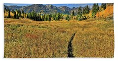 Rocky Mountain Fall Beach Towel